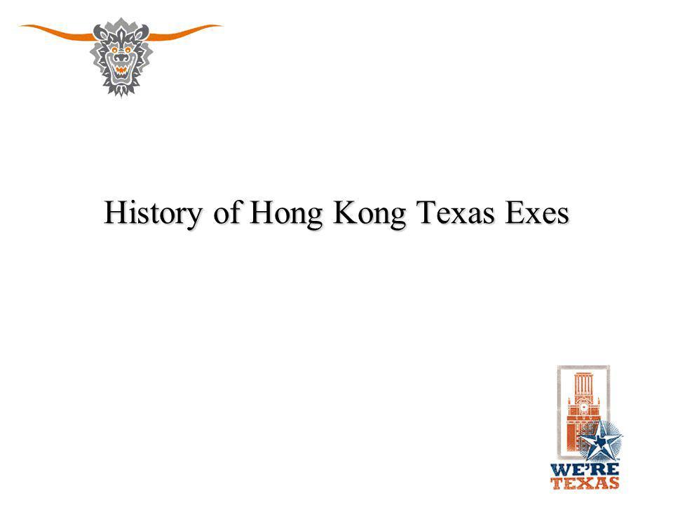 History of Hong Kong Texas Exes