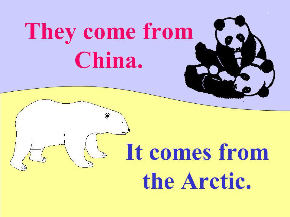 They come from China. It comes from the Arctic.