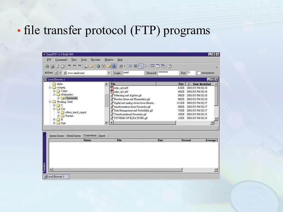 file transfer protocol (FTP) programs