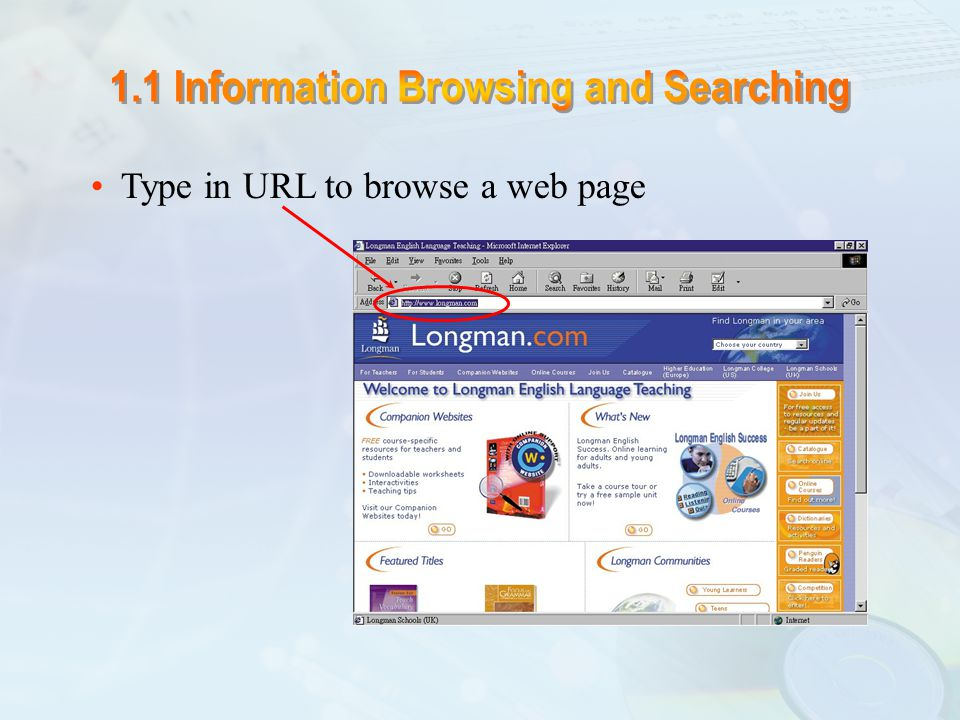 A search engine is a software program you can use to find web sites, web pages and files stored on the internet.