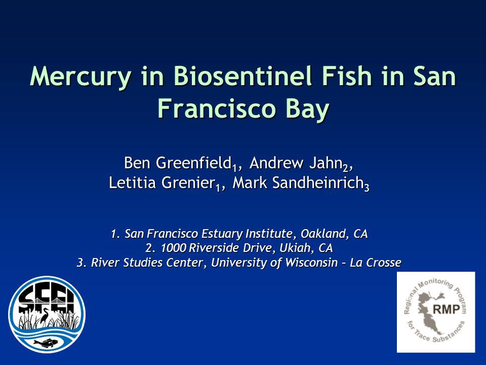 Mercury in Biosentinel Fish in San Francisco Bay Ben Greenfield 1, Andrew Jahn 2, Letitia Grenier 1, Mark Sandheinrich 3 1.