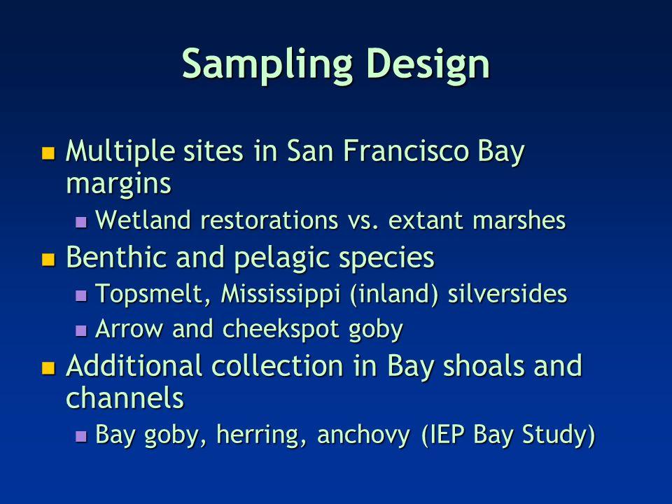 Multiple sites in San Francisco Bay margins Multiple sites in San Francisco Bay margins Wetland restorations vs.