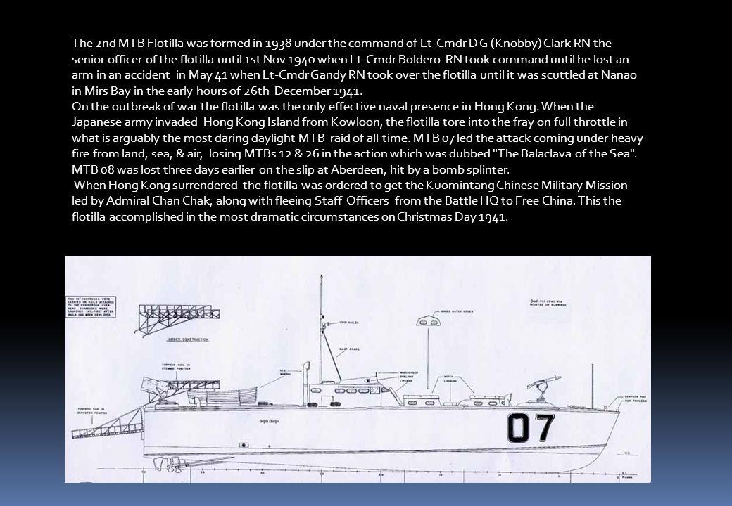 British Power Boat CompanyBritish Power Boat Company, Hampshire, UK] MTB 01-12, 14-19 [launched 1936-39 Built: 1936-1939 Built of Honduras Mahogany, d
