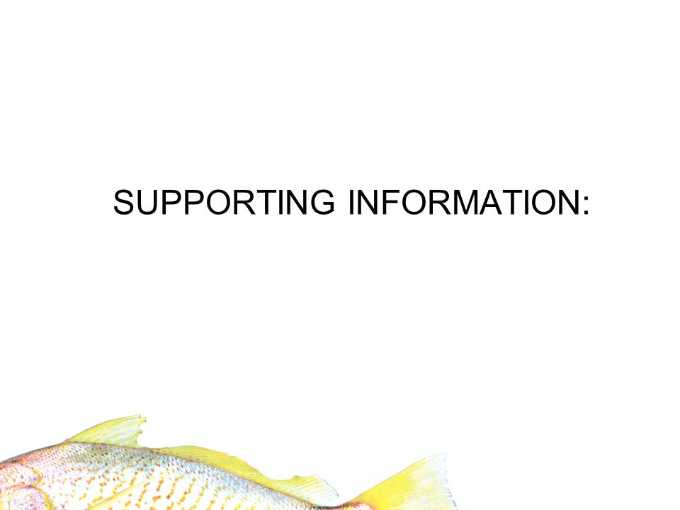 SUPPORTING INFORMATION: