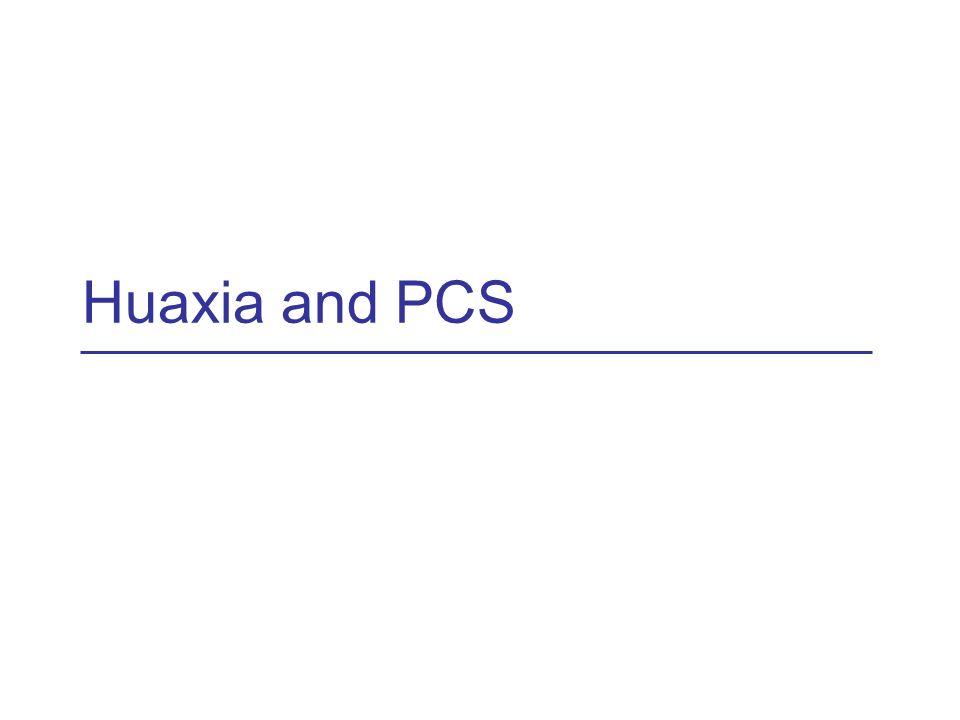 Huaxia and PCS