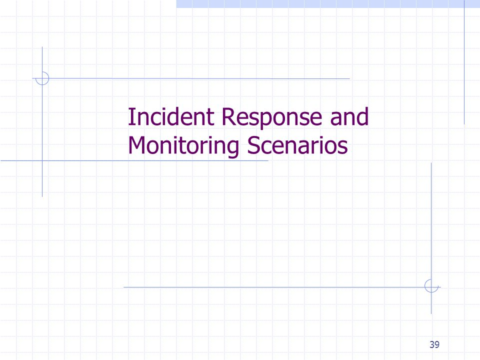 39 Incident Response and Monitoring Scenarios