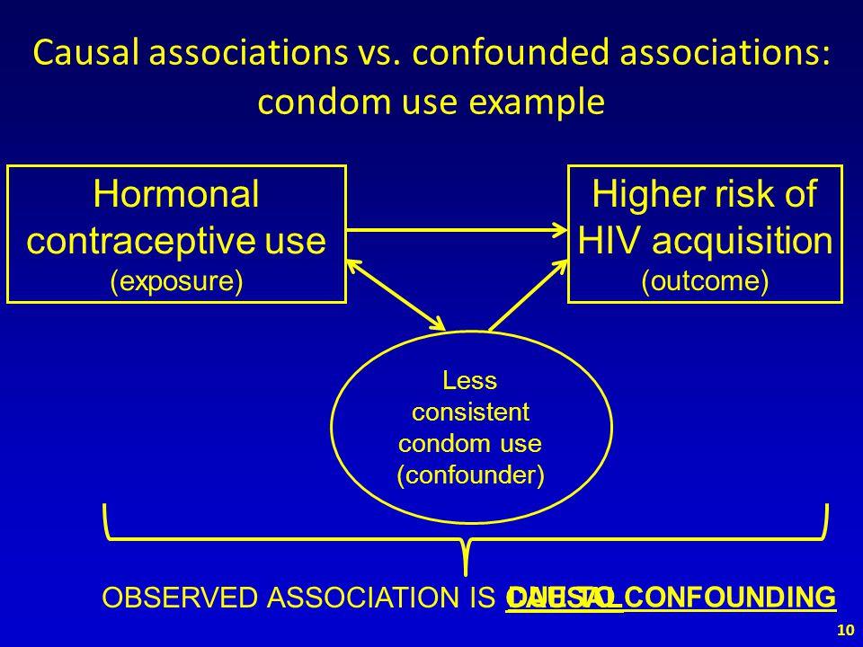 Causal associations vs.