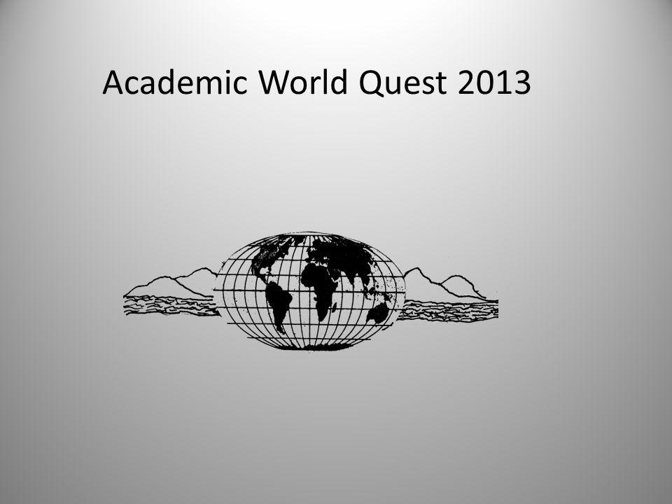 Academic World Quest 2013