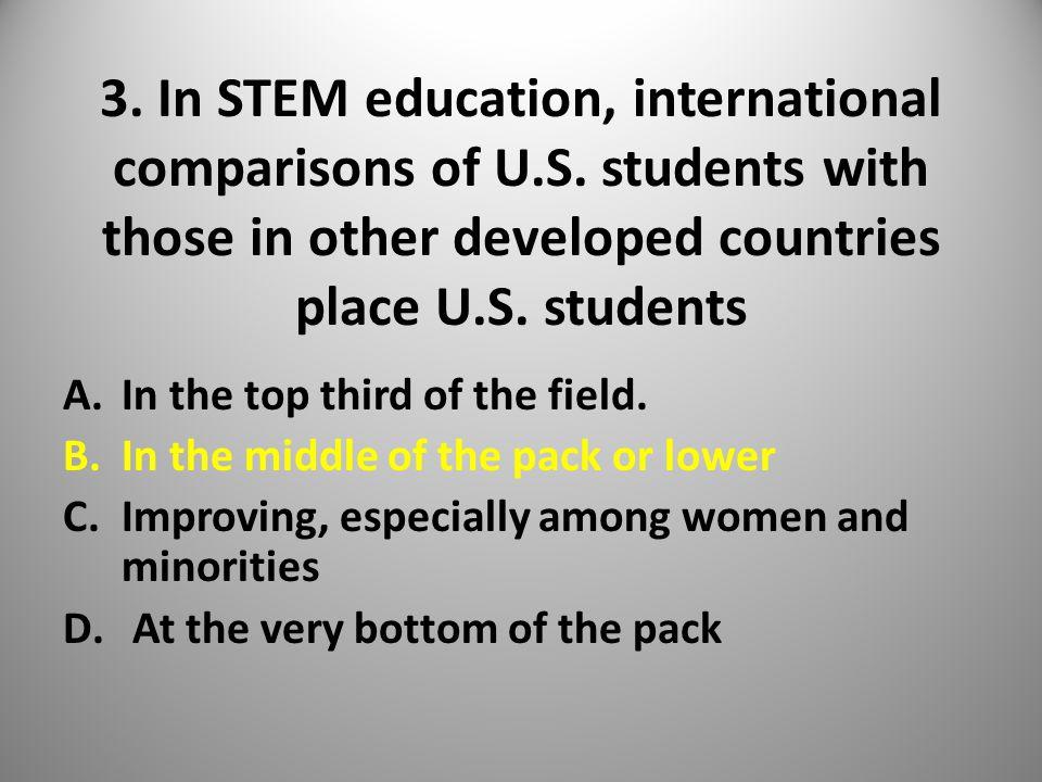 3. In STEM education, international comparisons of U.S.