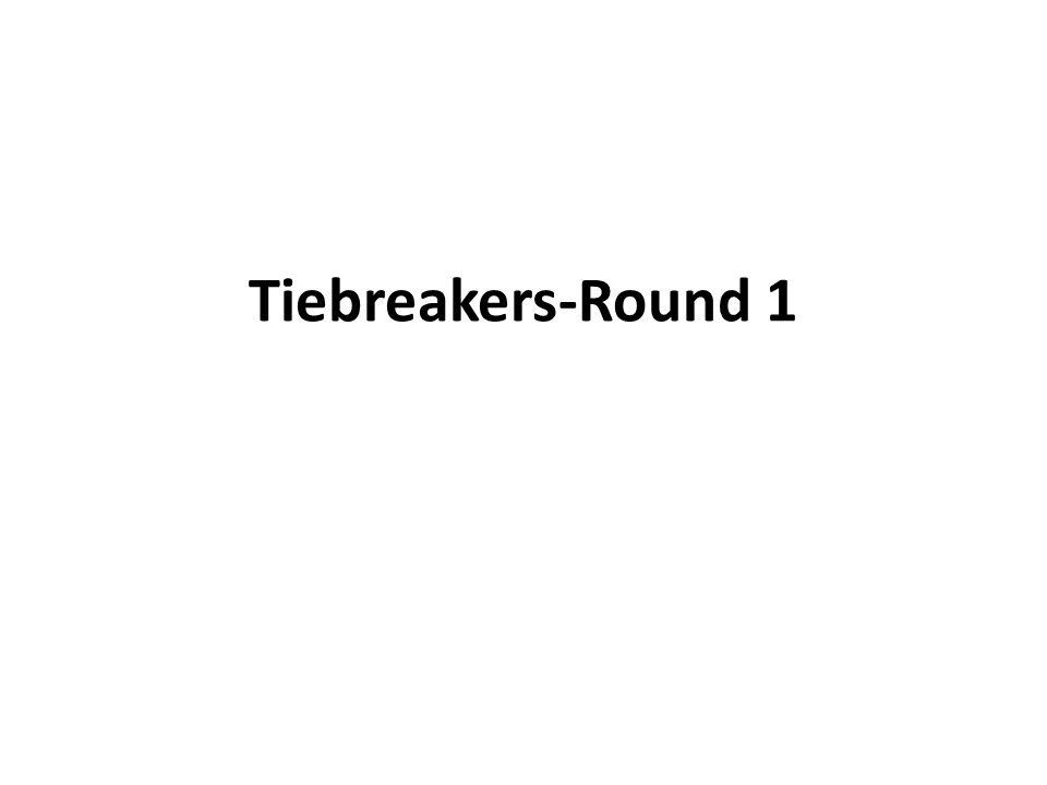 Tiebreakers-Round 1