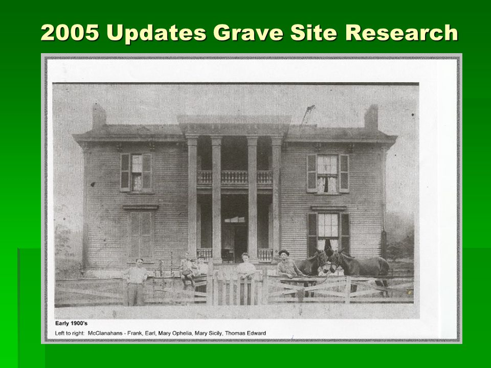 2005 Updates Grave Site Research