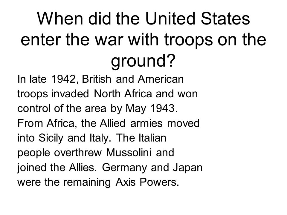 Where did the first major US battle take place?