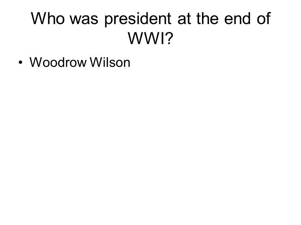 When did WWI end.