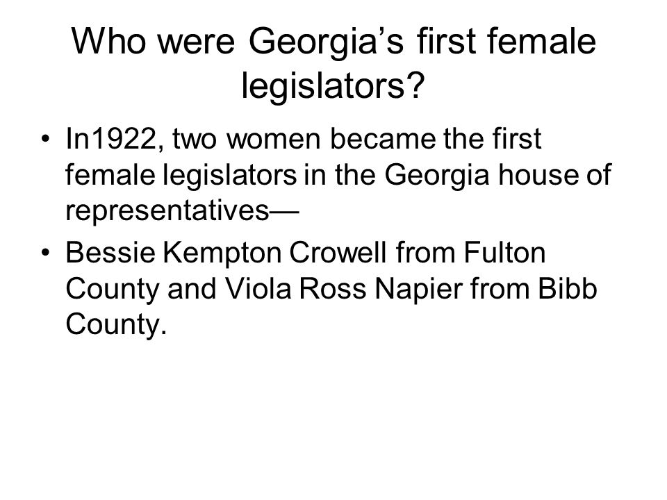 Who was the first woman to serve in the senate.