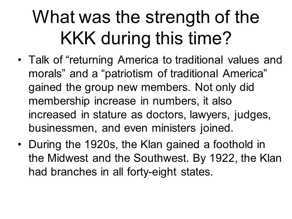 The Klan also gained political influence, and five U.S.