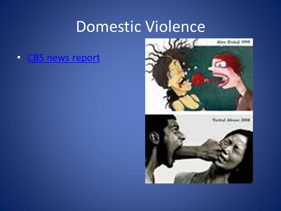 Domestic Violence CBS news report