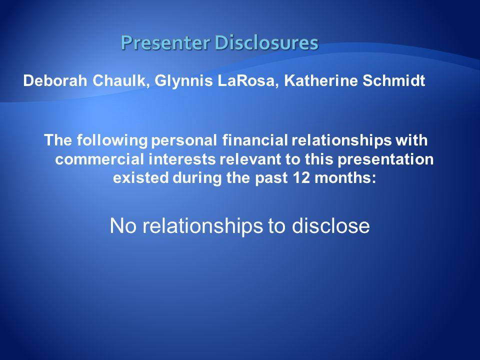  Debbie Chaulk, MSN, RN, PHCNS-BC  Dawn Dewkett, DNPc, BSN, RN  Andy Ellingson, MPH  Glynnis LaRosa, MPH, RN, CPHQ  Kaydee Schmidt, MSN, MPH, RN