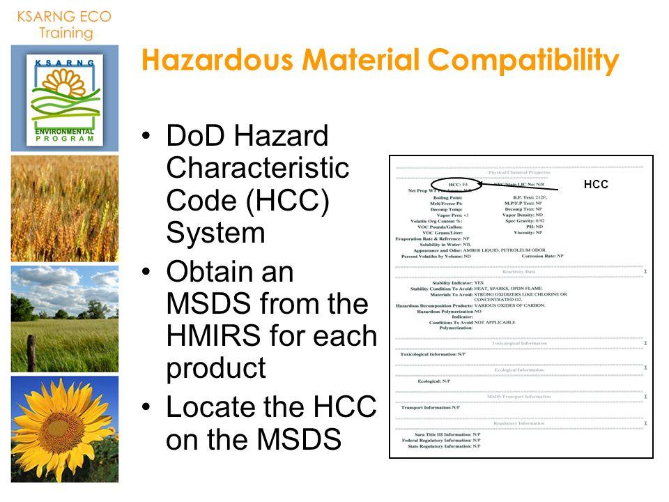 HCC - Hazard Characteristic Code AcronymFinder