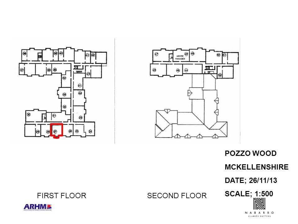 POZZO WOOD MCKELLENSHIRE DATE; 26/11/13 SCALE; 1:500 FIRST FLOORSECOND FLOOR