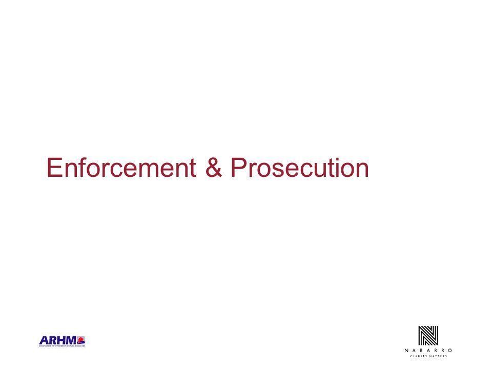 Enforcement & Prosecution