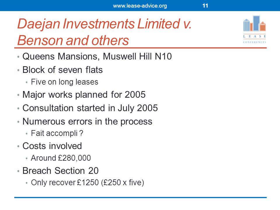 Daejan Investments Limited v.