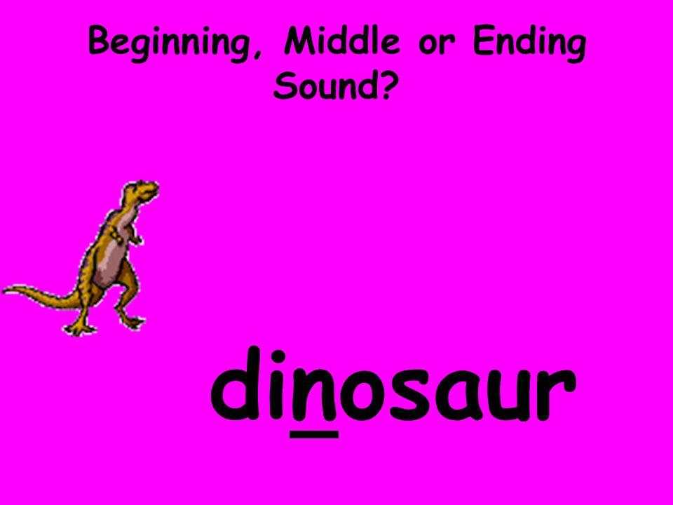 Beginning, Middle or Ending Sound? dinosaur