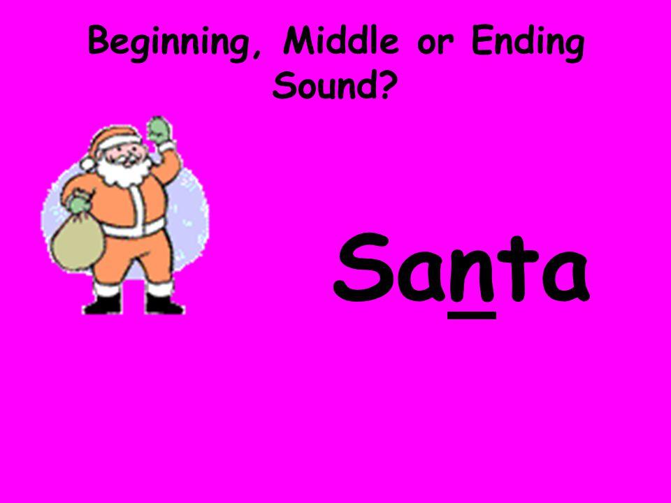 Beginning, Middle or Ending Sound? Santa