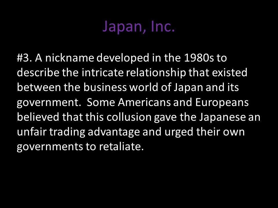 Japan, Inc. #3.