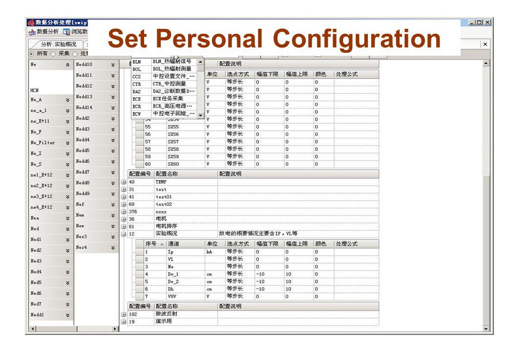 Set Personal Configuration