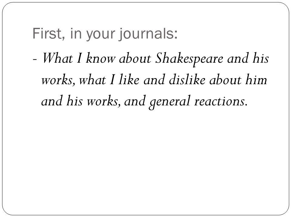 The Elements of (Shakespearean) Drama 2011-2012 Terminology Guide