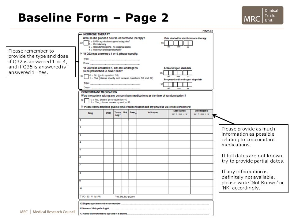 Follow-up Form (Post-Progression) This CRF should be completed at each follow-up visit following progression.