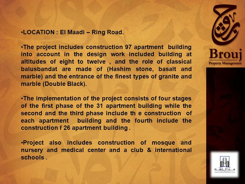LOCATION : El Maadi – Ring Road.