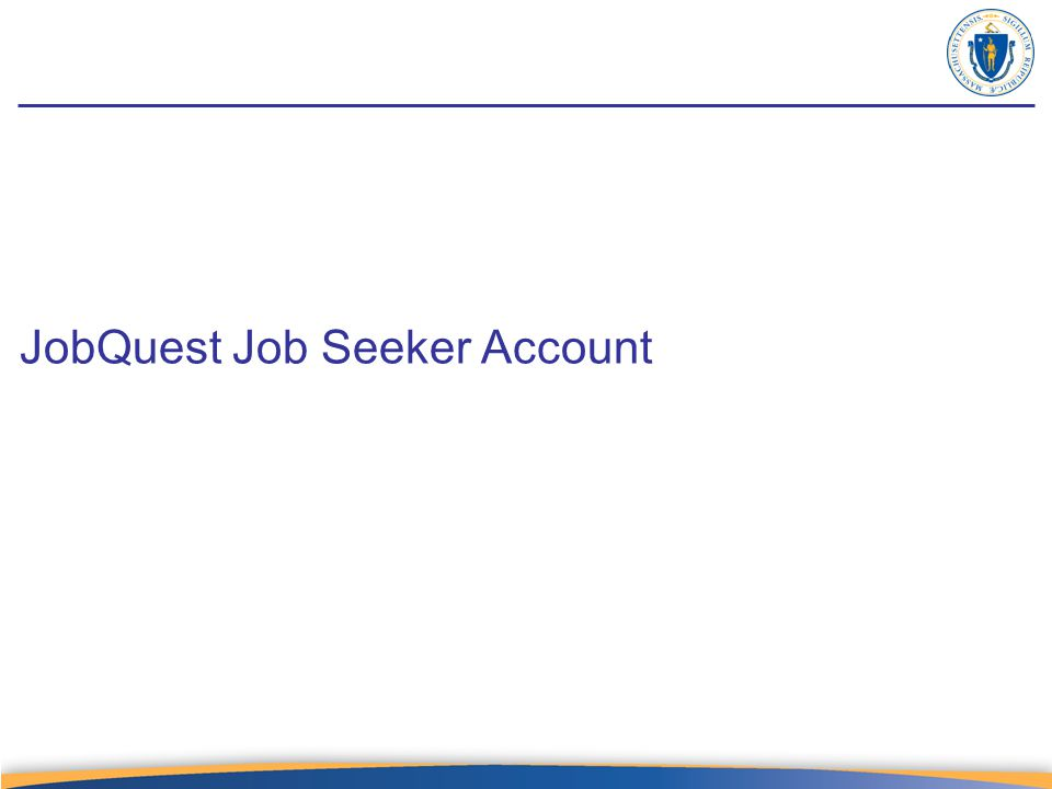 JobQuest Job Seeker Account