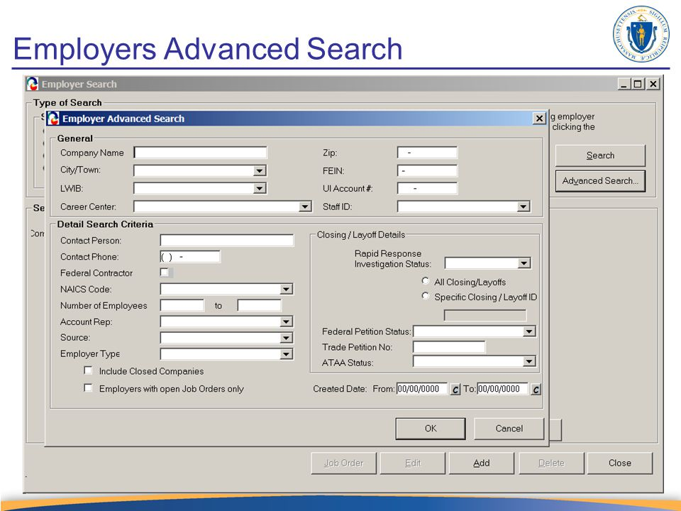 Employers Advanced Search