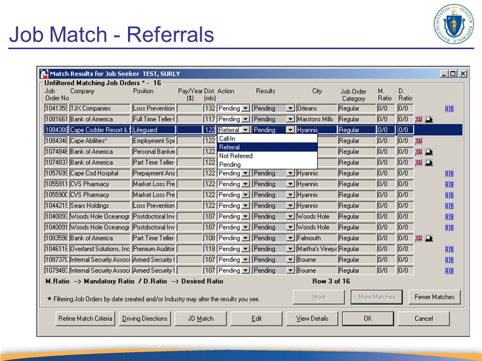 Job Match - Referrals