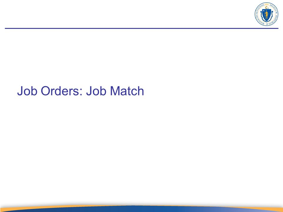 Job Orders: Job Match