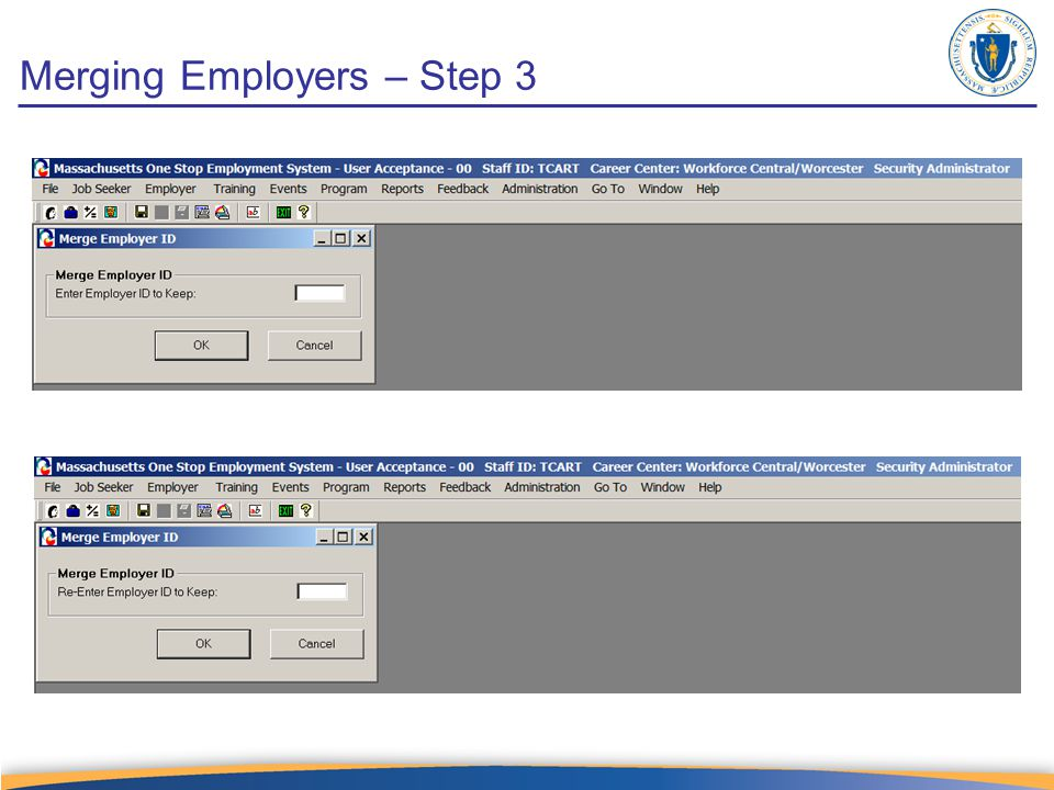 Merging Employers – Step 3
