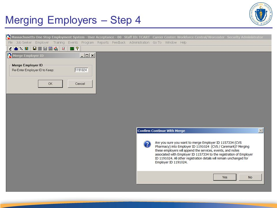 Merging Employers – Step 4