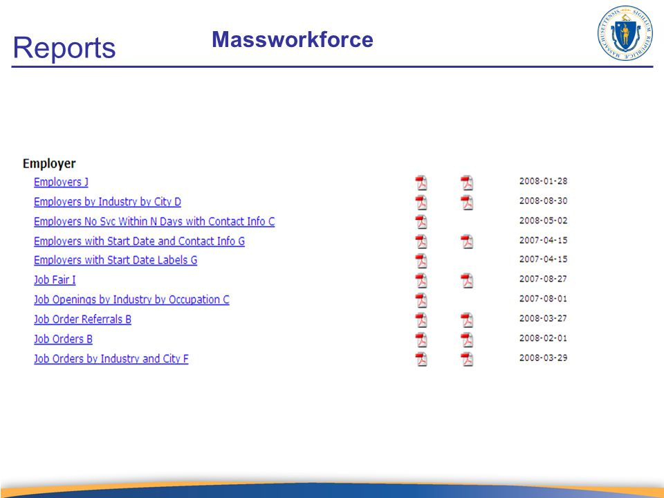 Reports Massworkforce