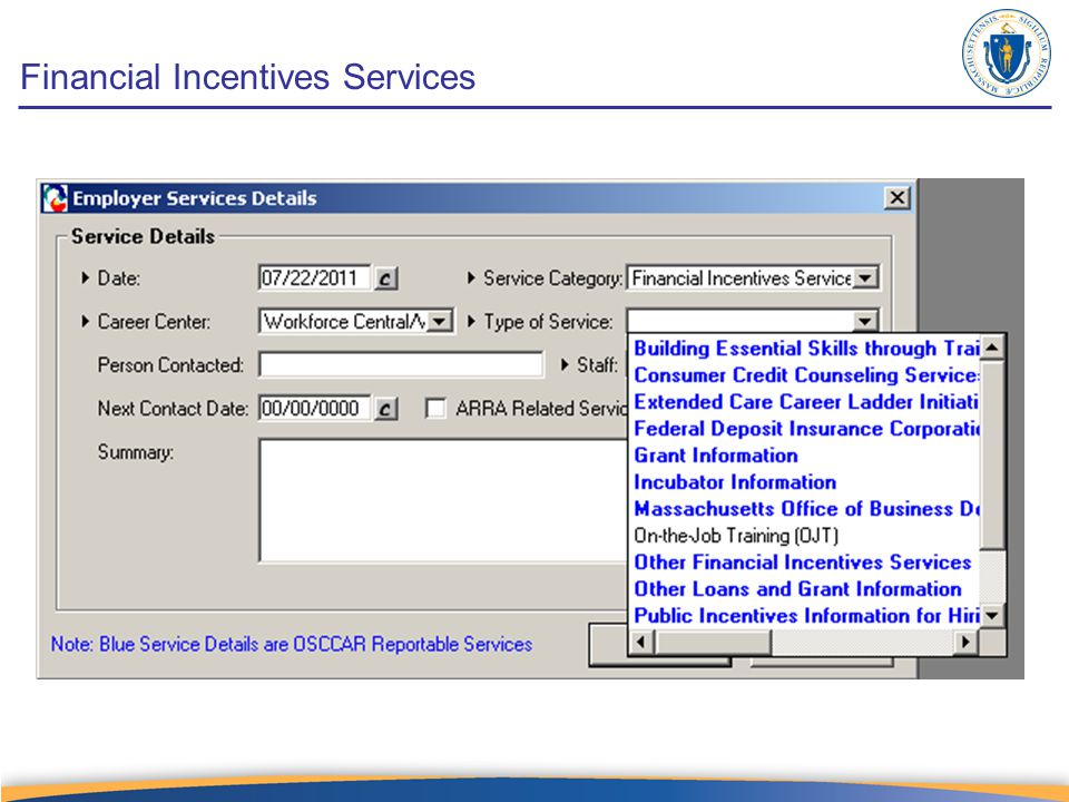 Financial Incentives Services