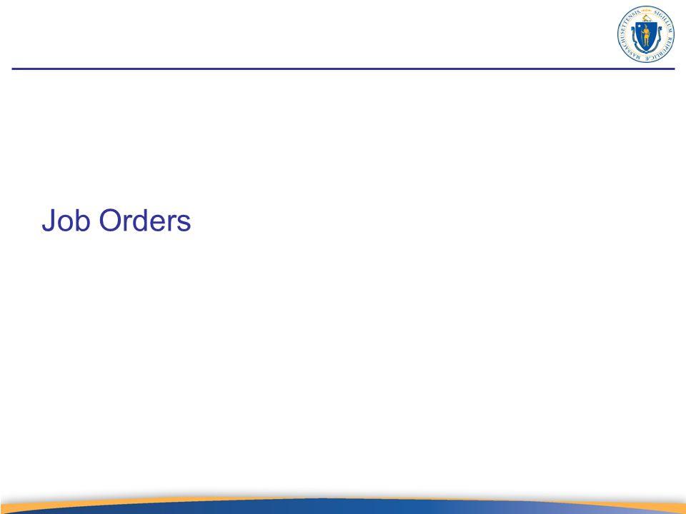 Job Orders