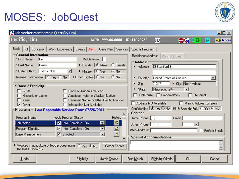 MOSES: JobQuest