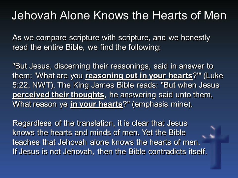 As we compare scripture with scripture, and we honestly read the entire Bible, we find the following: