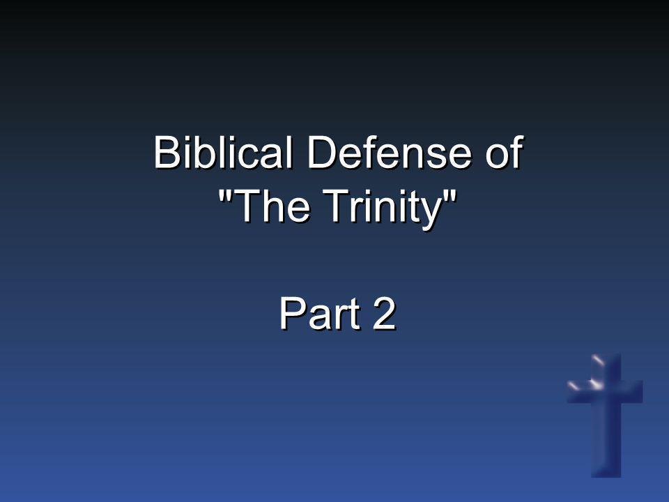 Biblical Defense of