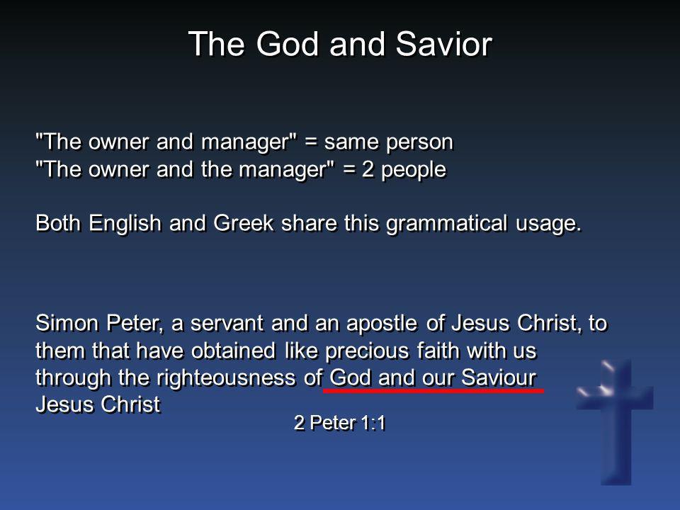The God and Savior