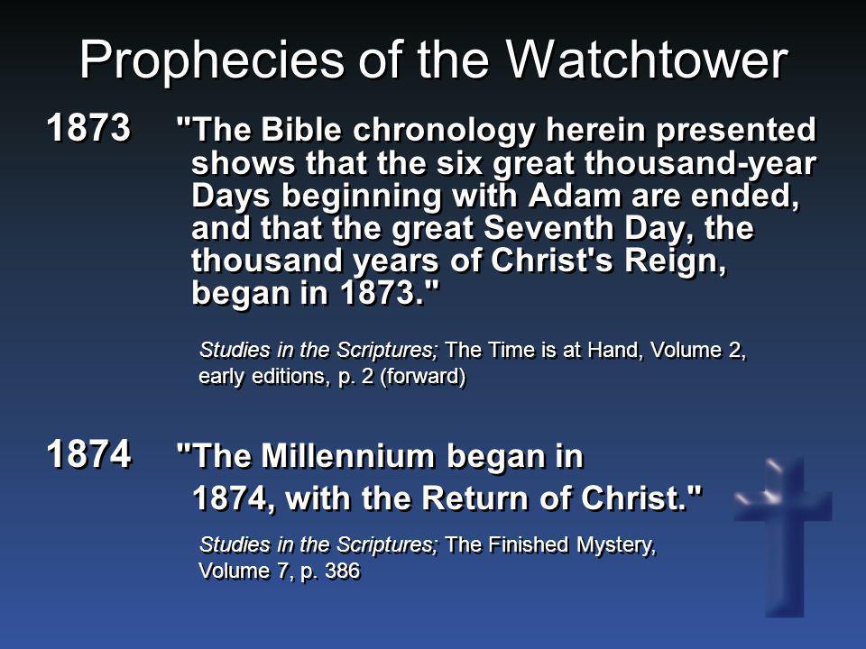 Prophecies of the Watchtower 1873