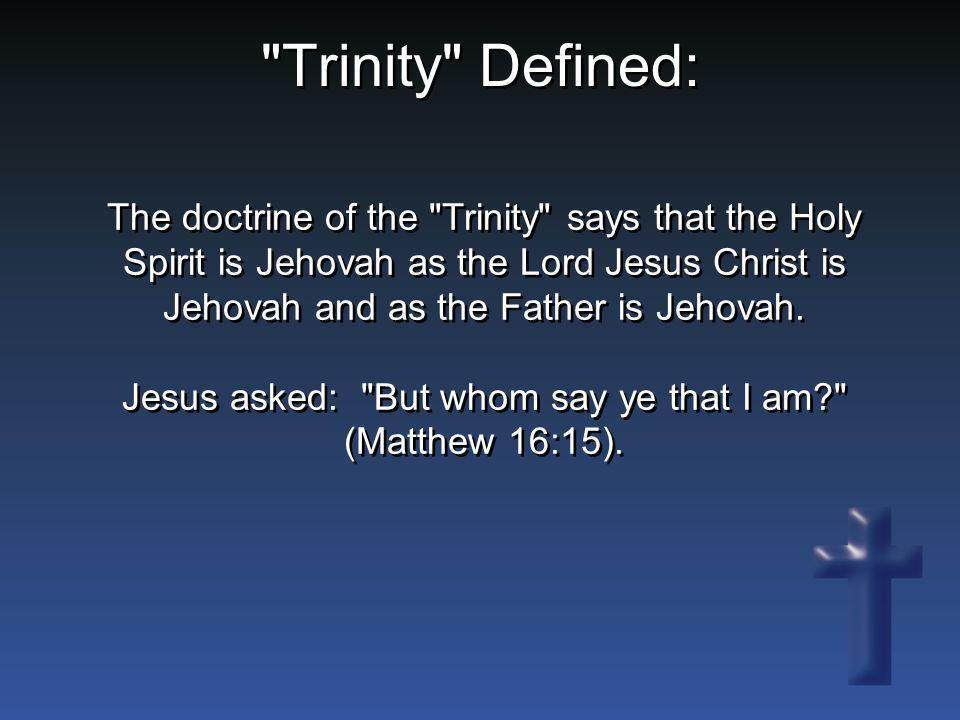 The doctrine of the