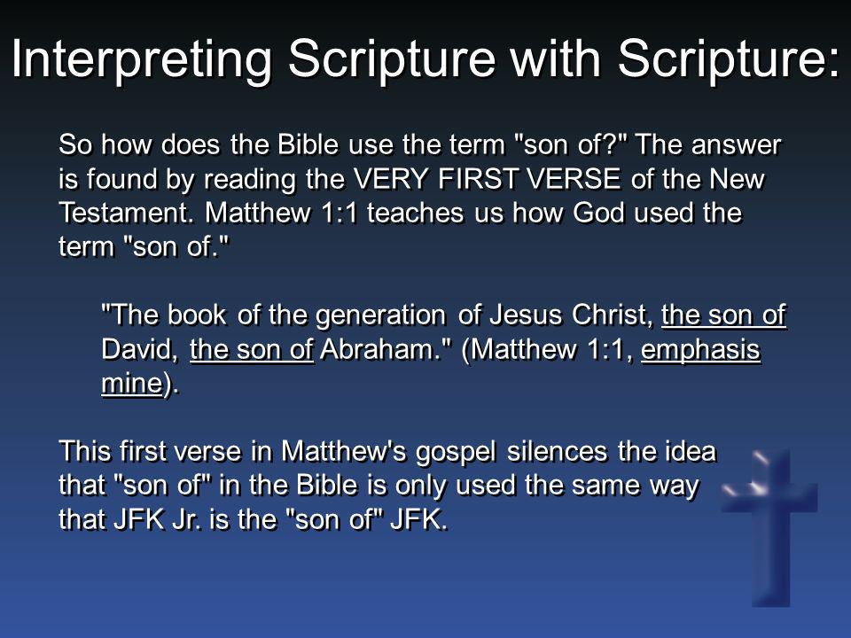 So how does the Bible use the term