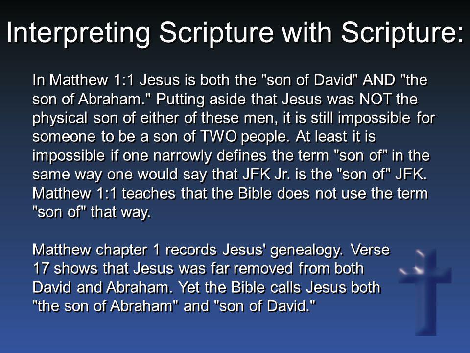 In Matthew 1:1 Jesus is both the