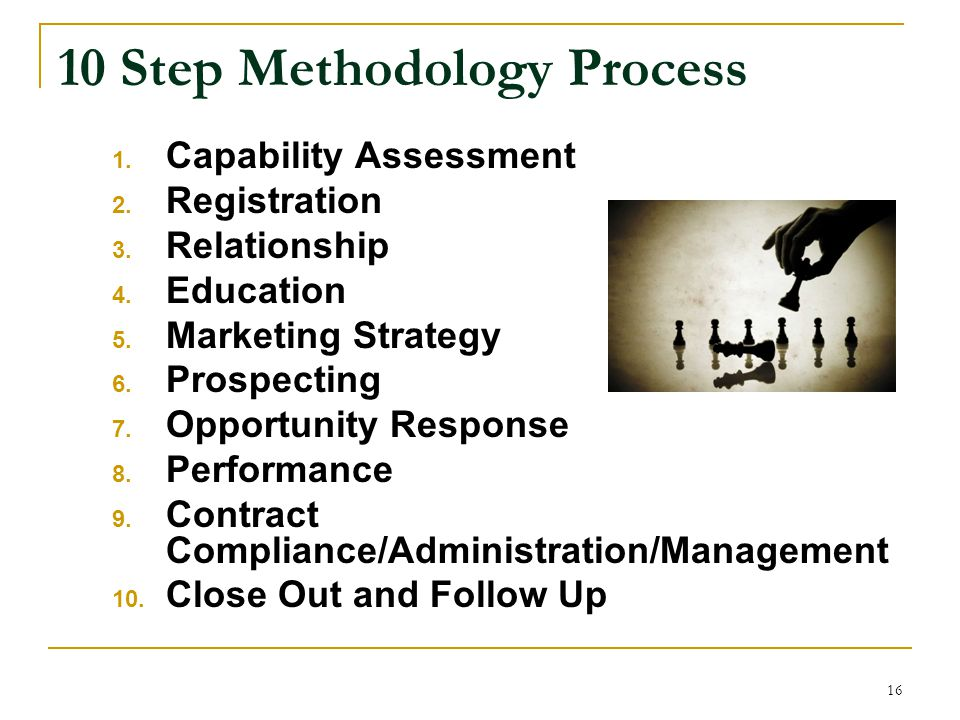 10 Step Methodology Process 1.Capability Assessment 2.